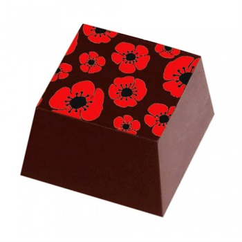 Chocolate Transfer Sheets - Red Flowers - Pack of 20 Sheets - 135 x 275 mm