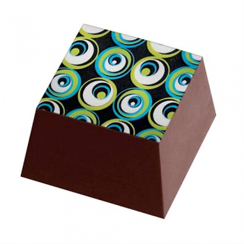 Chocolate Transfer Sheets - Round Fantasy - Pack of 20 Sheets - 135 x 275 mm
