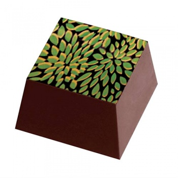 Chocolate Transfer Sheets - Small Leaves Nature - Pack of 20 Sheets - 135 x 275 mm