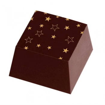 Chocolate Transfer Sheets - Holidays Stars - Pack of 20 Sheets - 135 x 275 mm