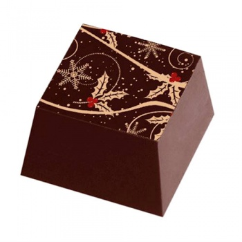 Chocolate Transfer Sheets - Holiday Leaves - Pack of 20 Sheets - 135 x 275 mm