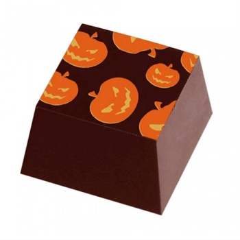 Chocolate Transfer Sheets - Halloween Pumkins Heads - Pack of 20 Sheets - 135 x 275 mm
