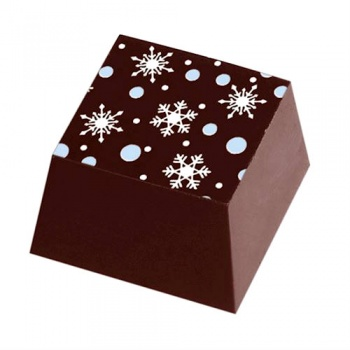 Chocolate Transfer Sheets - Winter White Snowflakes - Pack of 20 Sheets - 135 x 275 mm