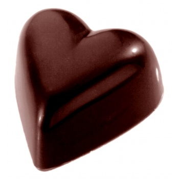 Polycarbonate Chocolate Heart Mold 33x31x15 mm - 3x8 Cavity - 11 gr