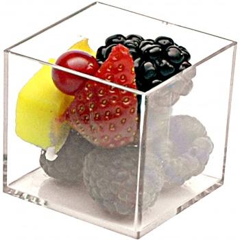 Plastic Mini Dishes Clear Cubes - 2.4 oz 1.8'' x 1.8'' x 1.7''- 200pcs