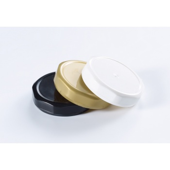 Lid for Plastic Mini Jam Container - 46 mm - Pack of 20 - White