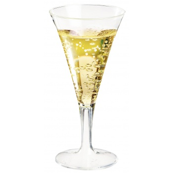 Clear Mini Champagne Flute - 2.5'' x 5'' - 96 pcs - 2 oz -