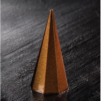Polycarbonate Tall Octogonal Pyramid Chocolate Mold - 25 x 25 x 55 mm - 11 gr - 28 Cavity - 275 x 175 mm