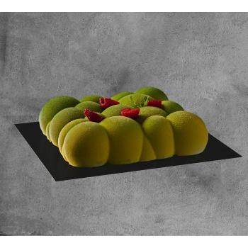 Deluxe Matte Black Square Cake Board - 18 x 18 cm - 50 pcs