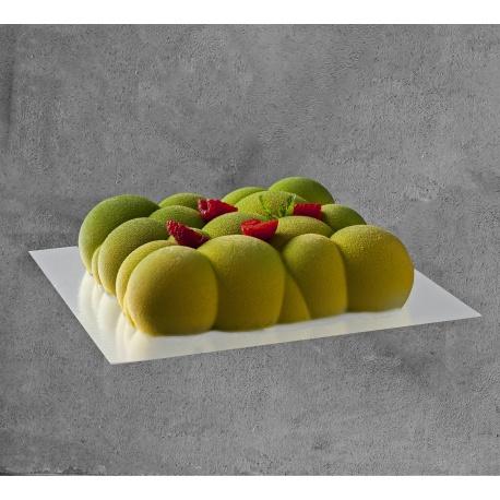 Deluxe Glossy White Square Cake Board - 22 x 22 cm - 50 pcs