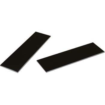 Deluxe Rectangular Matte Black Log Cake Board - 34 x 13 cm - 50 pcs