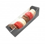 Deluxe Bi Frame Macaron Box - 6 Macarons - Galaxy Silver - Pack of 40
