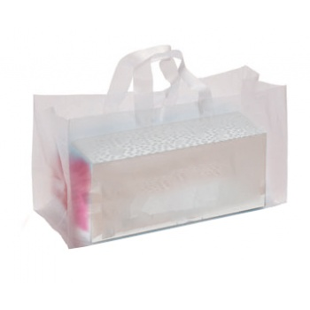 Frosted Plastic Bags for Log Cake Box - 370 x 150 x 200 mm - Pack of 50