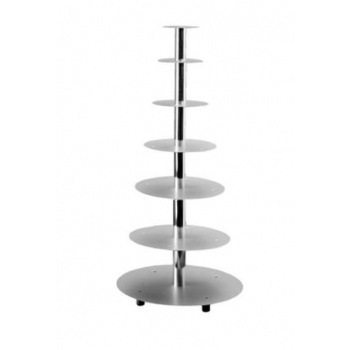Aluminum Multi Level Wedding Cake Stand Display - 7 Levels Cakes - Ø 16 - 20 - 26 - 32 - 40 - 45 - 50 cm