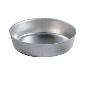 Aluminum Straight edges Tart Pan Base for Pie Machine Ø100 x 25 mm - Pack of 25
