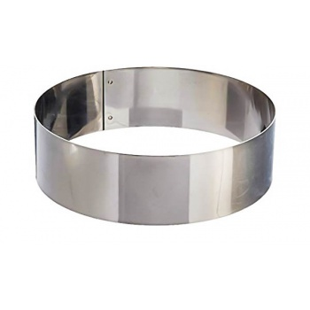 Polished Stainless Steel Heavy Duty Round Cake Ring 8'' x 2''