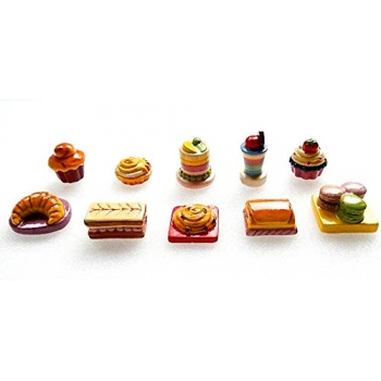 Assorted Epiphanie Feves Cakes Charms - Pack of 50 -
