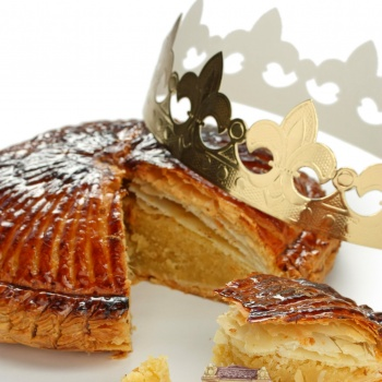 Gold Cardboard Epiphanie Cake Crown - Pack of 100