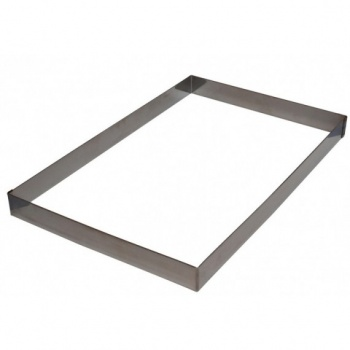 Full Size Pastry Frame Sheet Pan Extender - 370 x 570 mm x 45 mm