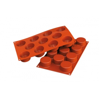 Silikomart Silicone Molds Cylinders Molds - Ø 50 x 27 mm - 55 ml - 11 Cavity