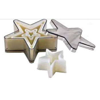 Nylon & Fiberglass Cookie Cutter Set - Stars - 5 pces set