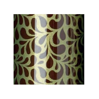 Chocolate Transfer Sheets - Shiny Green Damask - Pack of 10 Sheets - 340 x 265 mm