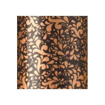 Chocolate Transfer Sheets - Bronze Scintillant Damask - Pack of 10 Sheets - 340 x 265 mm