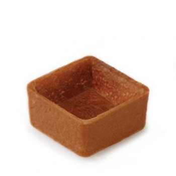 Chocolate Mini Square Straight Edges Sweet Butter Tartlets - 1.3'' - 245 pcs