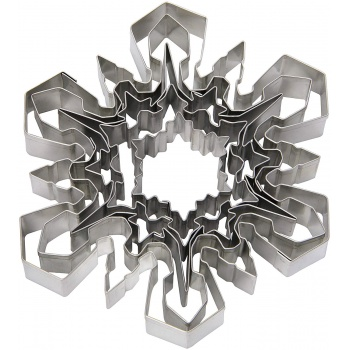 Ateco Large Snowflakes Stainless Steel Cookie Cutter  Set - Set of 5 pcs - 1.5'' to 5''