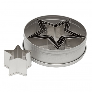 Ateco Star Stainless Steel Cookie Cutter Set - Set of 6 pcs - 1 3/4'' to 3 1/2''