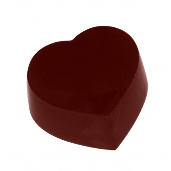Magnetic Polycarbonate Chocolate Mold Straight Hearts - 30 x 32 x 15 mm - 3 x 6 pc - 11gr - 275x135x24 mm