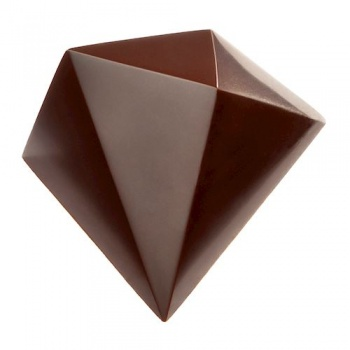Polycarbonate Chocolate Mold Triangular Diamond by Davide Comaschi 38x32x22,50 mm - 18 Cavity - 10gr - 275x135x28 mm