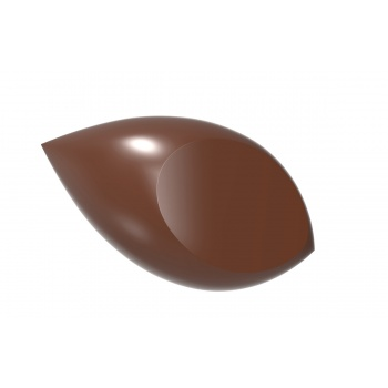 Polycarbonate Chocolate Mold Flattened Quenelle - 45,5x25x12,50 mm - 2x8 pc/7 gr -275x135x24