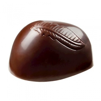 Polycarbonate Chocolate Mold Flattened Quenelle - 45,5x25x12,50 mm - 2x8 pc/7 gr -275x135x24 - double mould