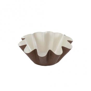 Brioche Floret Paper Baking Cups - Small Size - 1 3/4'' Base x 3'' Top x 1 1/4''High - 25pcs