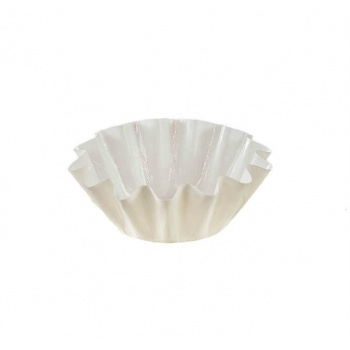 White Brioche Floret Paper Baking Cups - Small Size - 1 3/4'' Base x 3'' Top x 1 1/4''High  - 100 pcs