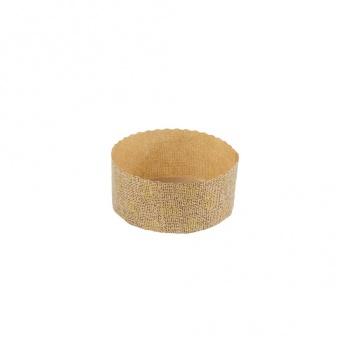 "Low Panettone Paper Baking Cups - 3-1/2"" x 1-5/8"" - 50 pcs"