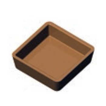 PAVONI Cookmatic Small Straight Edges sQUARE Tart Shell Plates 70 x 70 x 20 mm - 12 Cavity