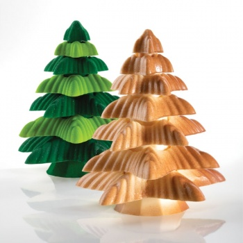 Pavoni Thermoformed Mold - AMPOLLA - Christmas Trees Ø 135 x 200 mm - Weight: 200 g - 2 sets