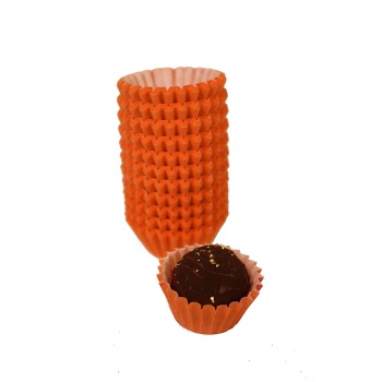Kraft Chocolate Candy Cups No.4 - 1''x3/4'' - Natural Kraft - 200pcs