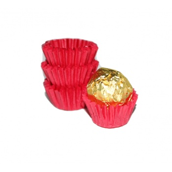 Paper Chocolate Candy Cups No.3 - 0.9''x 0.66'' - Red - 1000 pcs