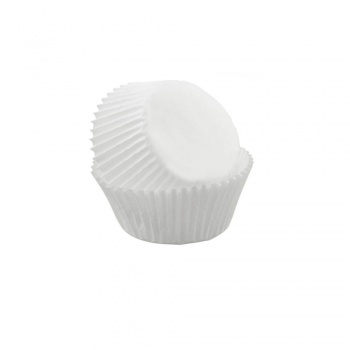 Paper Chocolate Candy Cups No.3 - 0.9''x 0.66'' - White with Gold Stripes - 1000 pcs
