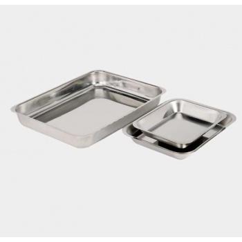 De Buyer Heavy Duty Stainless Steel Rectangular Dish 29 x 24 x 4 cm