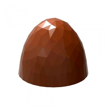 Polycarbonate Chocolate Mold Origami Faceted Dome 26.50x26.50x22 mm - 9.5 gr - 3 x 8 Cavity - 275 x 135 x 24 mm