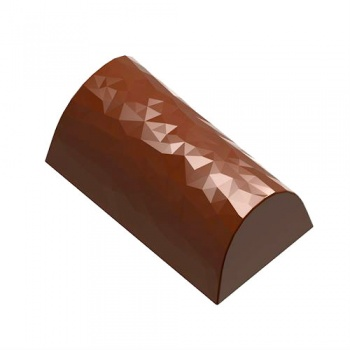 Polycarbonate Chocolate Mold Origami Faceted Log 36x20x15 mm mm - 9.5 gr - 3 x 8 Cavity - 275 x 135 x 24 mm