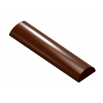 Polycarbonate Chocolate Rounded Smooth Snack Bar 113 x 28 x 11 mm - 31.5 gr - 1 x 7 Cavity - 275 x 135 x 24 mm
