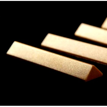 Polycarbonate Pyramidal Bar Mold by Juliana Badaro 99.50 x 19.50 x 11.50 mm - 17.5gr - 1 x 10 Cavity - 275 x 135 x 24 mm