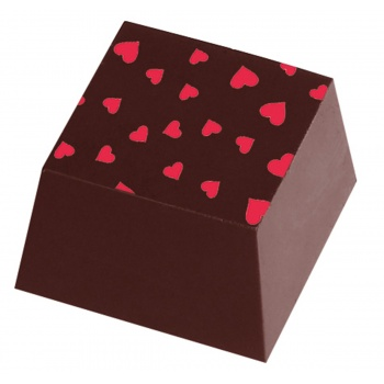 Chocolate Transfer Sheets - Pink Hearts - Pack of 20 Sheets - 135 x 275 mm