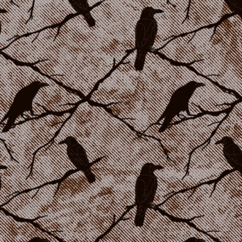 Chocolate Transfer Sheets - Black Ravens Birds - Pack of 20 Sheets - 135 x 275 mm