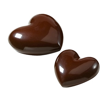 Polycarbonate Chocolate SWEET BOX HEART Mold - 135g and 350g - 4 cavity - 8 and 10cm